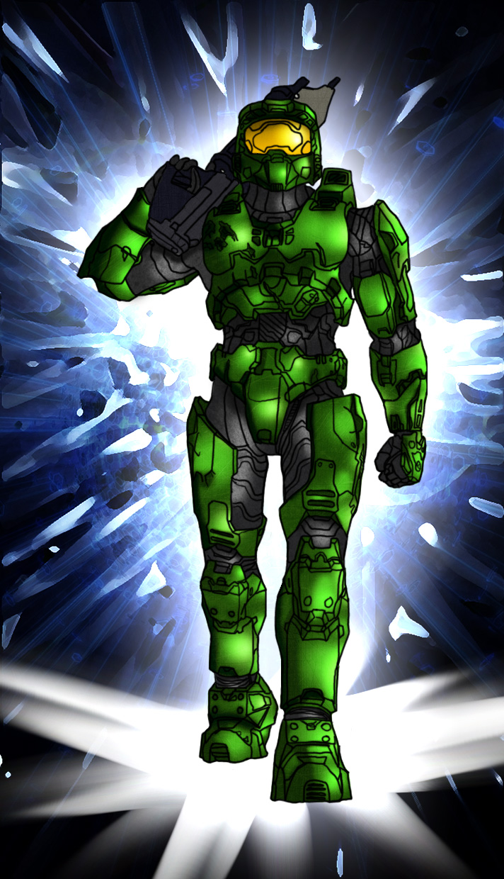 Spartan 117 Tribute by DraconicParagon