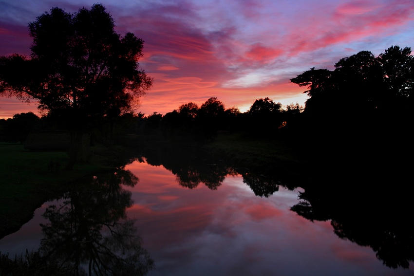 Sunset at Warwick Castle 2 by Andrew-and-Seven