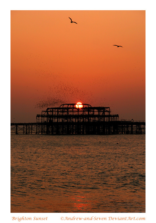 Brighton Sunset by Andrew-and-Seven