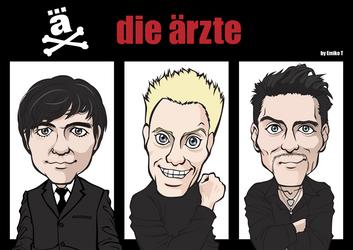 Caricature Die Aerzte by emikotakano