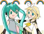 miku n rin - reverse rainbow
