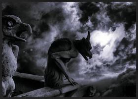 The Gargoyles of Notre Dame by krasblak