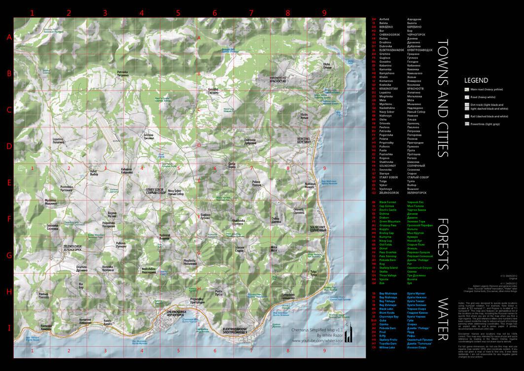 Chernarus Simplified Map (v1.1) by WhiteRAZOR on DeviantArt on