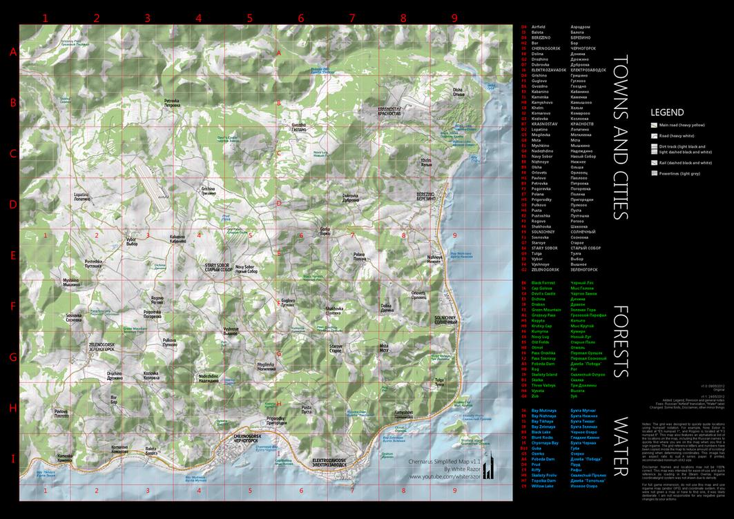 Chernarus Simplified Map (v1.1) by WhiteRAZOR