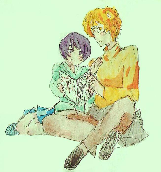 reading manga by MS3