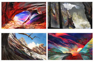 Landscape Photobashes by ArdentMind