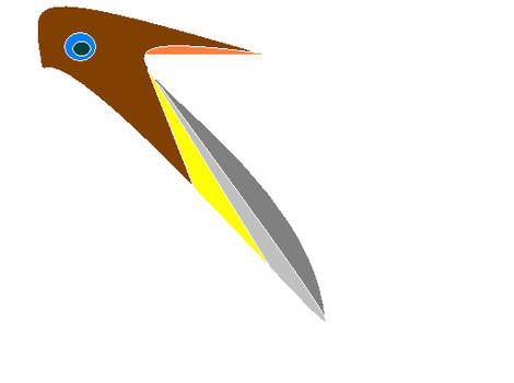A bird? No is a knife? I not sure....