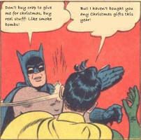 Batman and Robin, Christmas gifts problems.