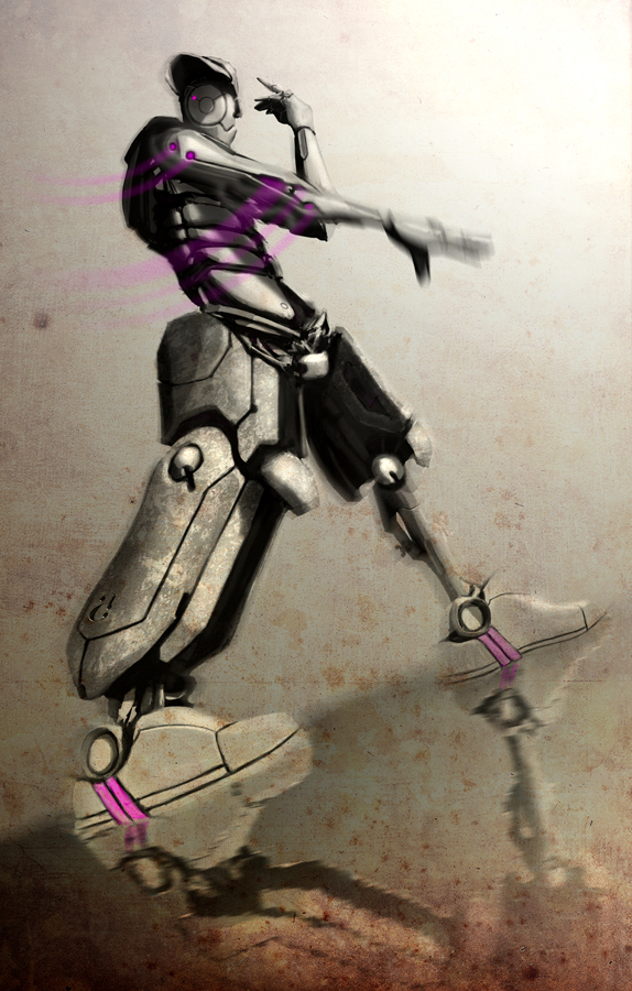 hip hop mecha dance by AltoContrasteStudio