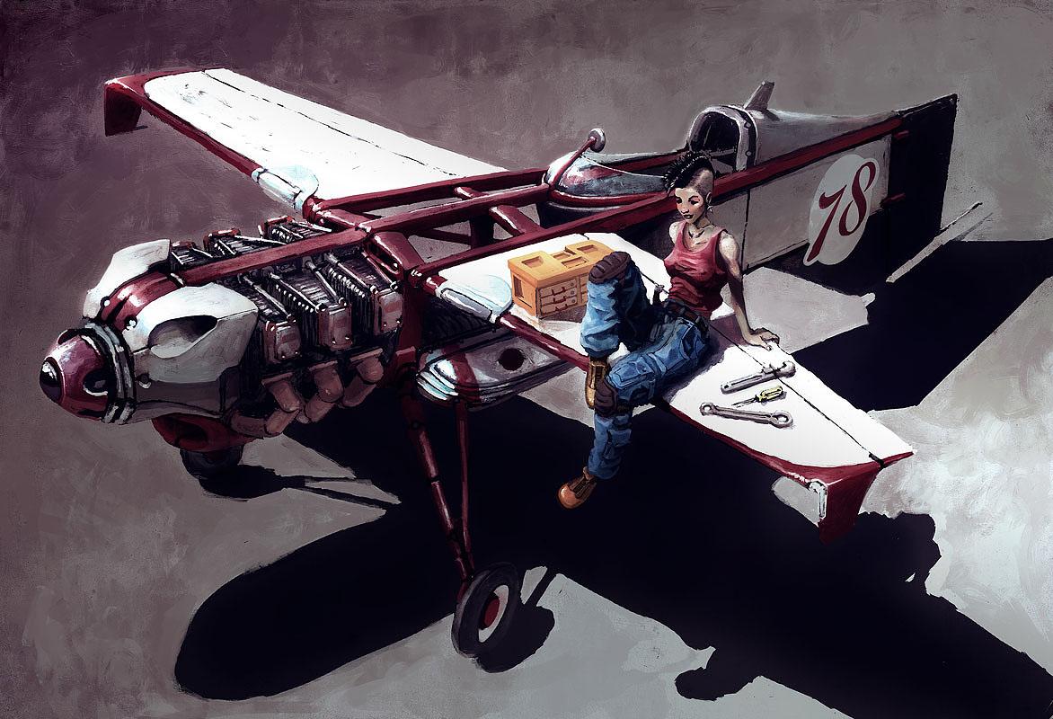 Cafe Air Racer HM12 by AltoContrasteStudio
