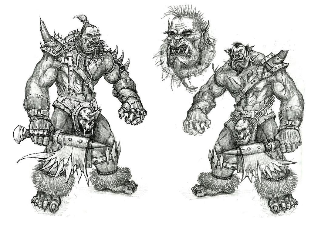 ORC sketches by AltoContrasteStudio