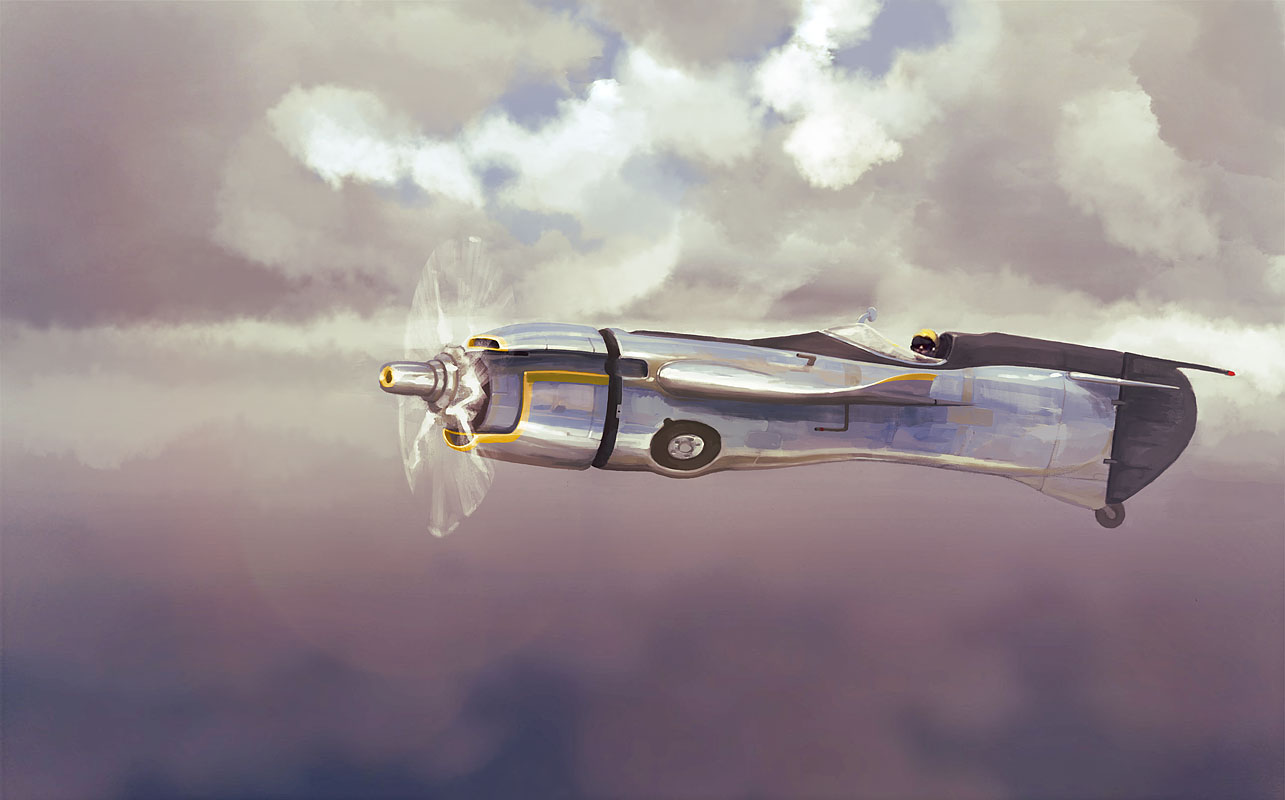 Chercan Cafe air racer by AltoContrasteStudio