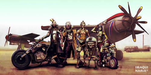 Cafe Air Racer personajes by AltoContrasteStudio