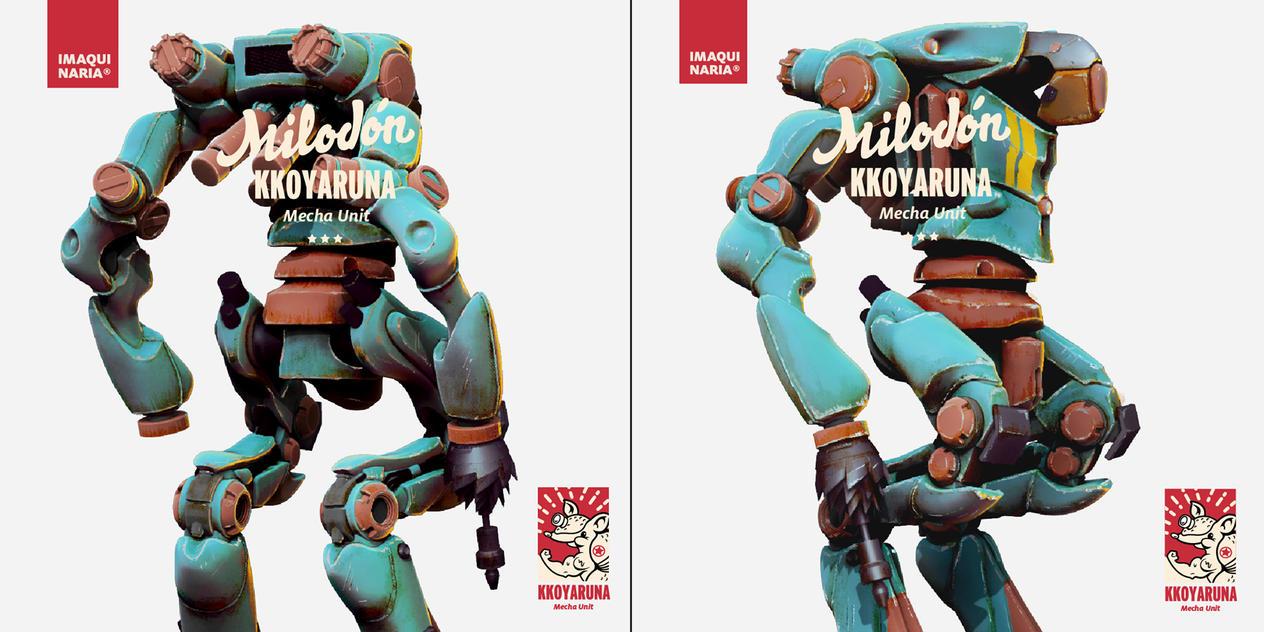 MILODON mecha collection by AltoContrasteStudio