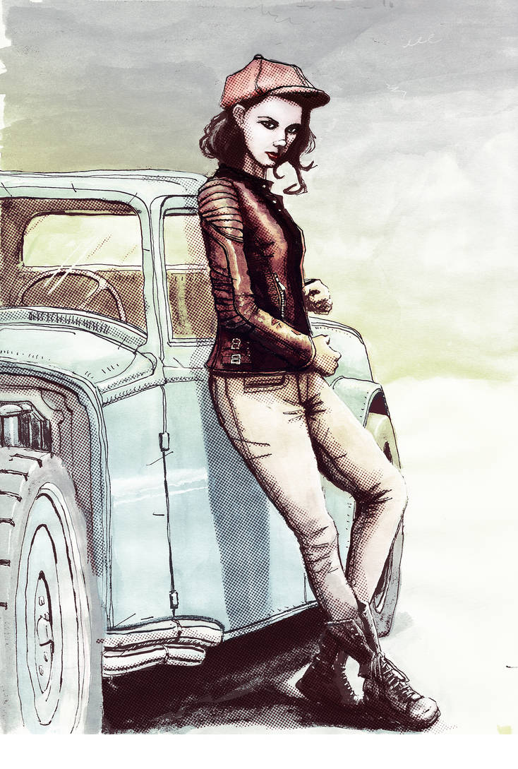 Kacie Marie and HOT ROD by AltoContrasteStudio
