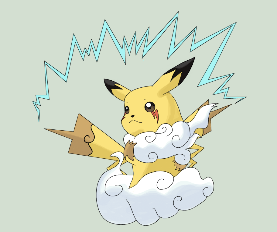 Mega pikachu colored by squeeblez on deviantart - Pokemon mega evolution pikachu ...