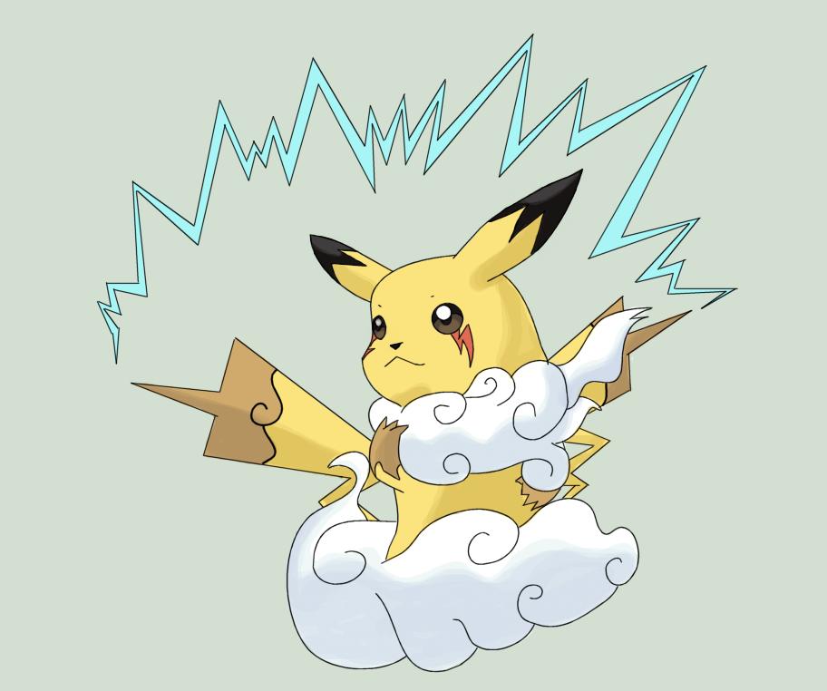 Pikachu mega evolution x