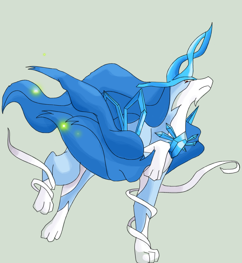 Mega suicune- shiny by Squeeblez on DeviantArt
