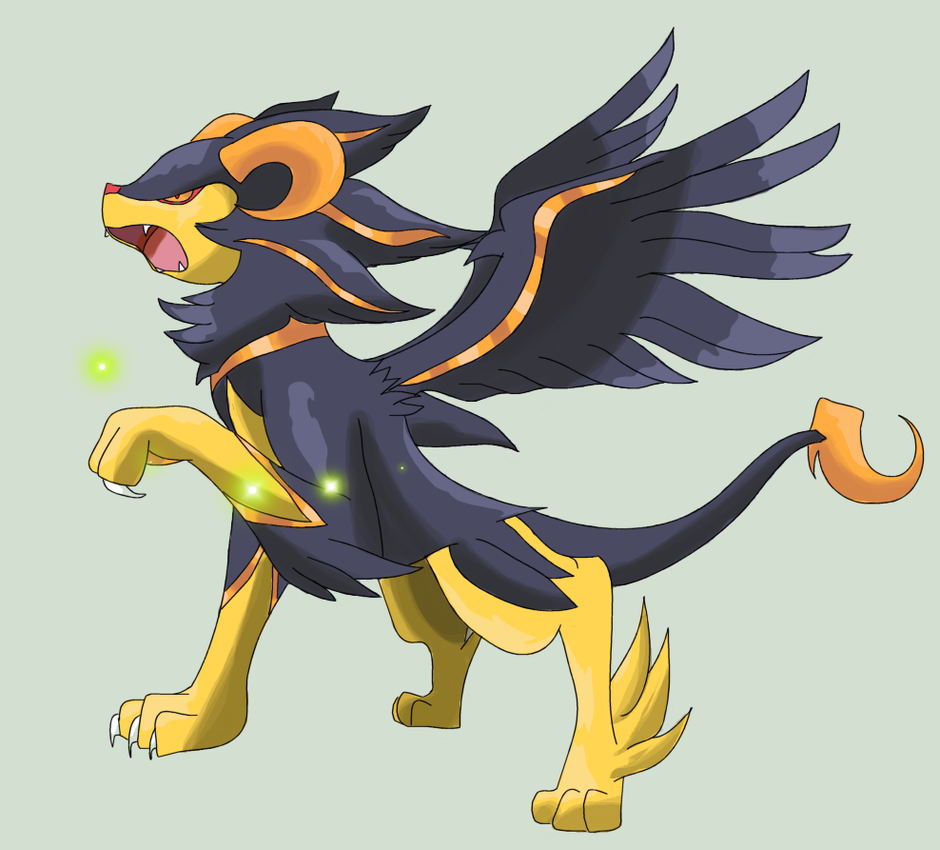 Shiny mega luxray by Squeeblez on DeviantArt