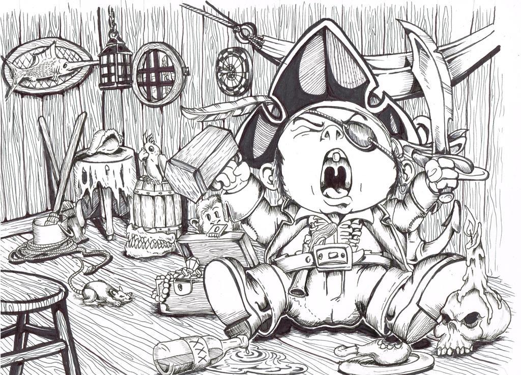 Cap'n  Grumpypants by jericodarkwynd
