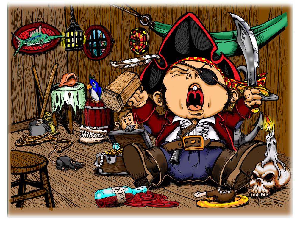 Cap'n Grumpypants/ color by jericodarkwynd