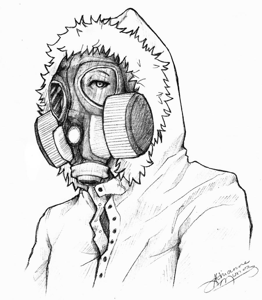 deviantart drawing gas mask futuristic anime www