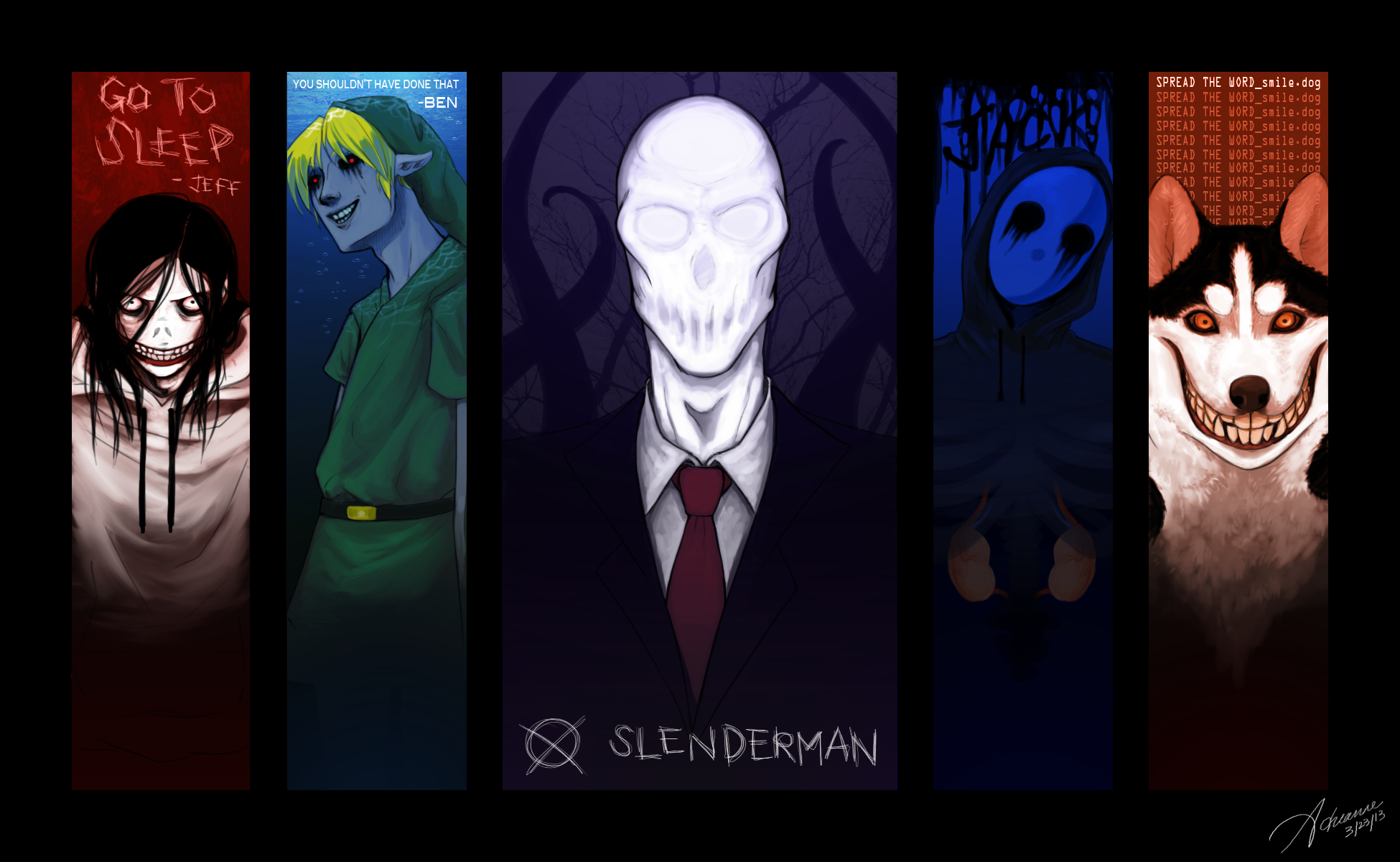 Anime Characters Catchphrases : My current wallpaper creepypasta