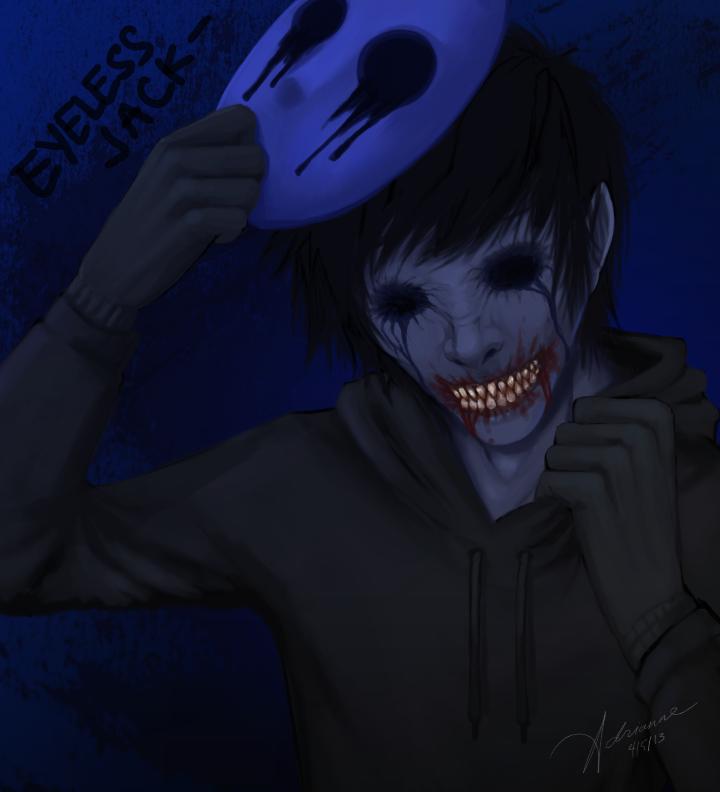 Eyeless Jack (unmasked) by SUCHanARTIST13