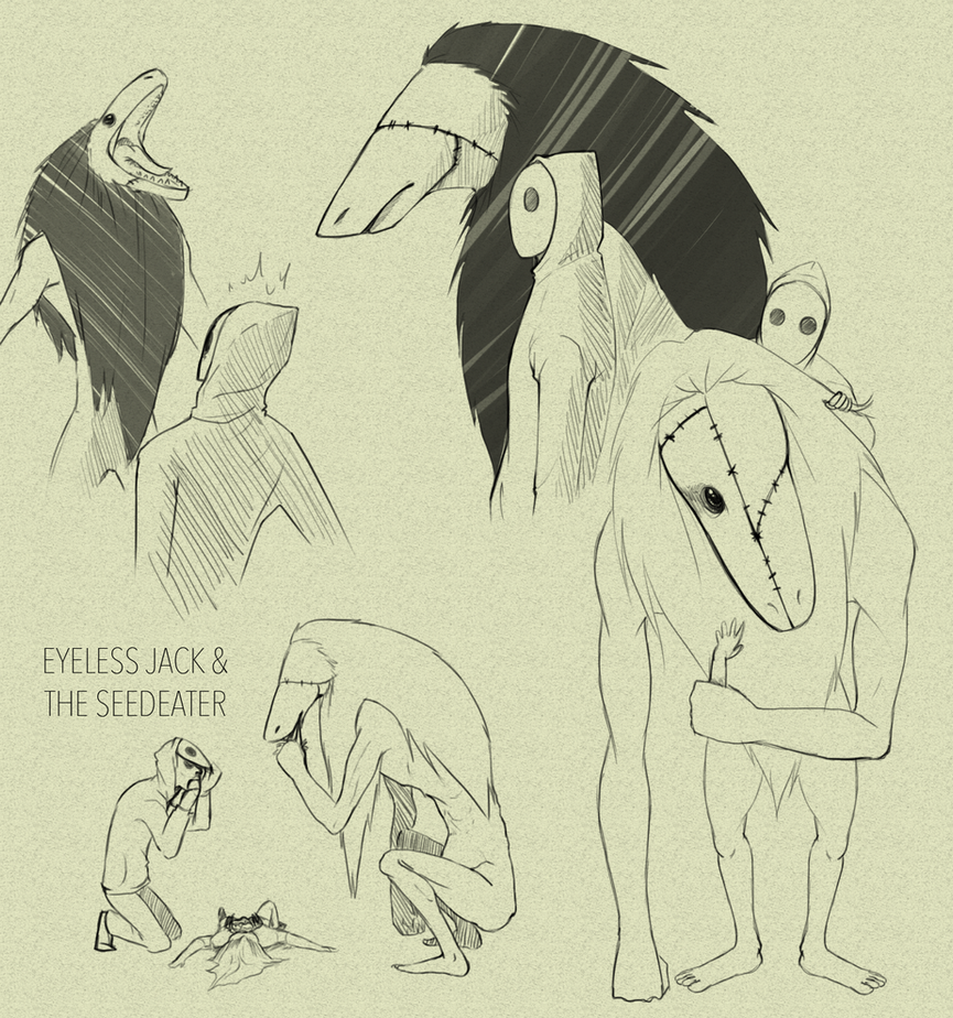 Eyeless Jack And The Seedeater DOODLES by SUCHanARTIST13
