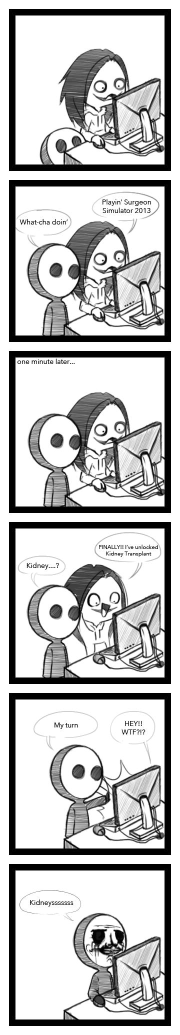 Surgeon Simulator 2013 Mini Comic  by SUCHanARTIST13