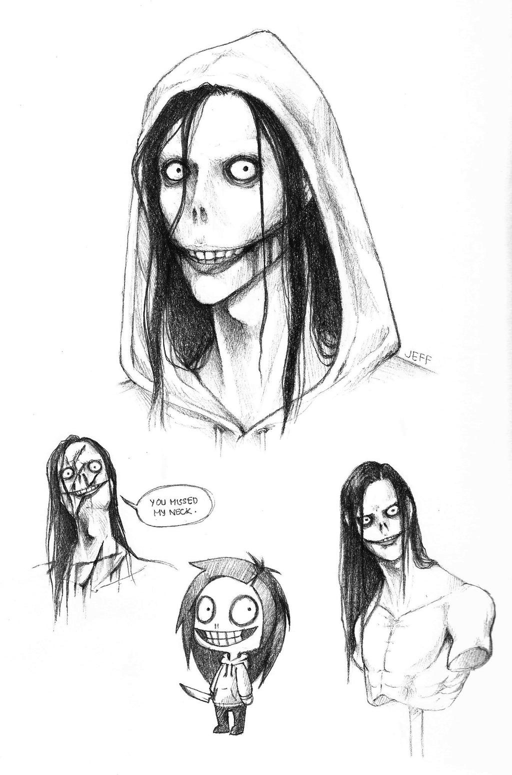 Jeff The Killer Doodles by SUCHanARTIST13