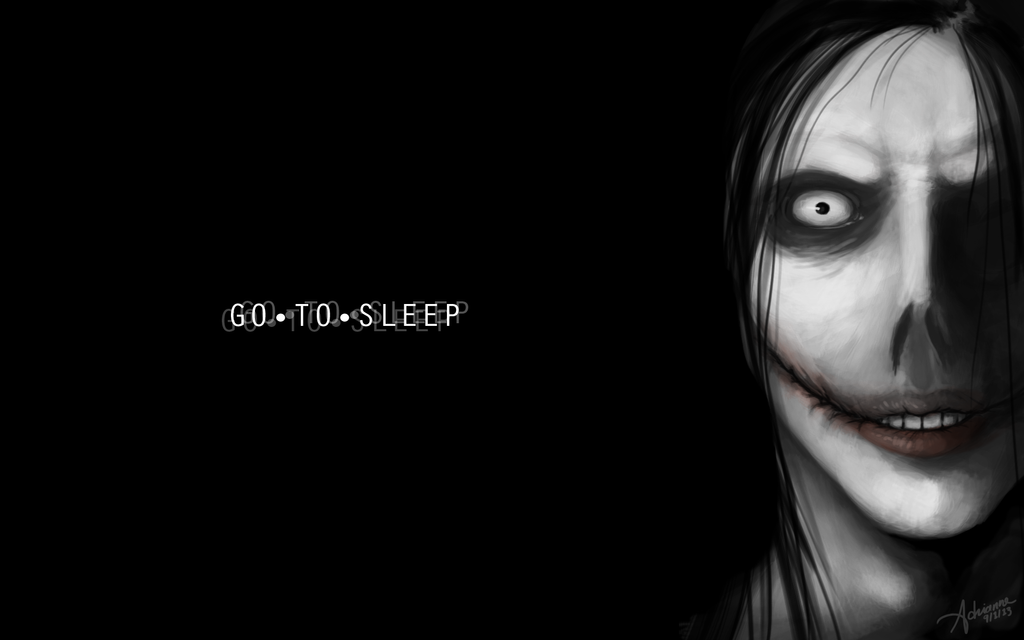Jeff The Killer Black And White Wallpaper by SUCHanARTIST13
