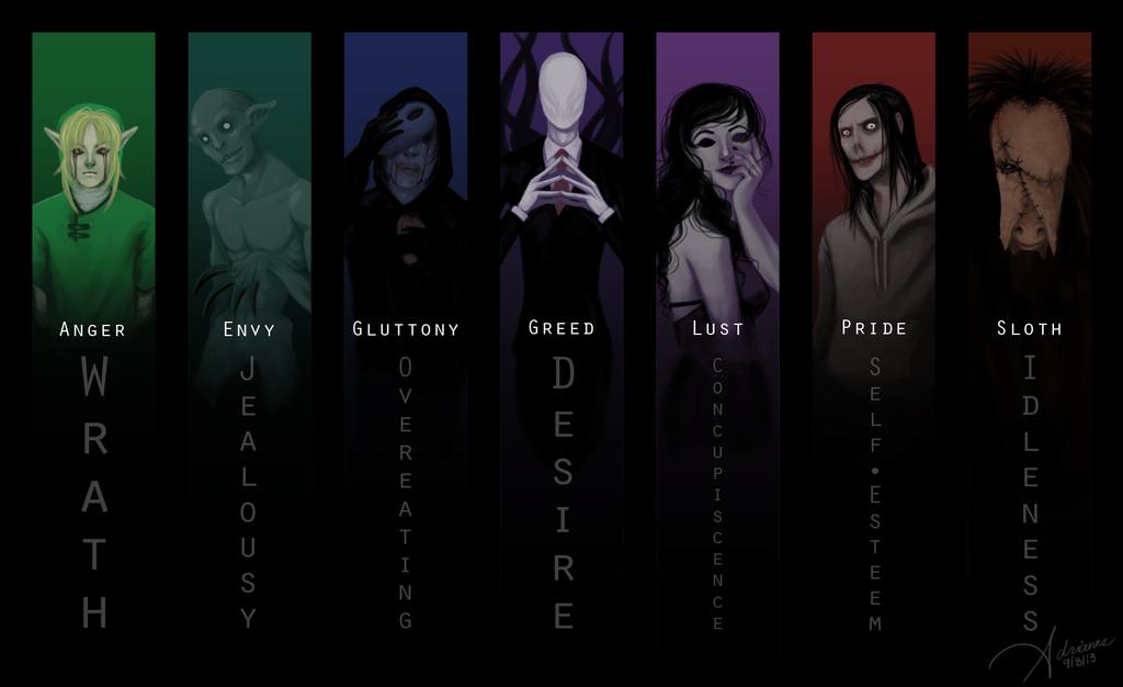 Seven deadly sins by SUCHanARTIST13
