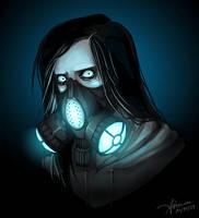 Jeff's gas mask by SUCHanARTIST13