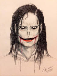 Jeff the Killer (color pencil) by SUCHanARTIST13