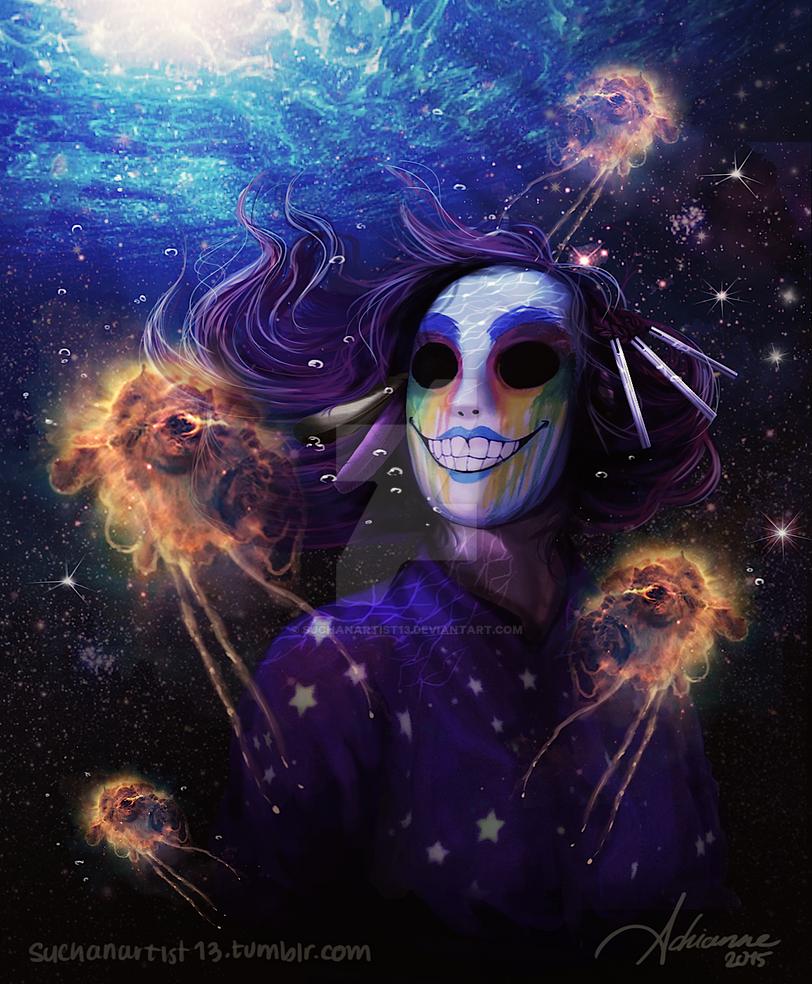 Underwater-interstellar portrait by SUCHanARTIST13