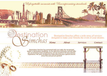 destination simchas web design by ksteward