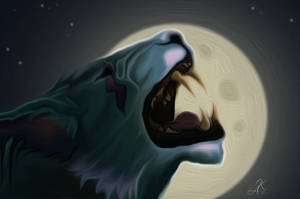 Feral Druid by moonlight by Nookawolf