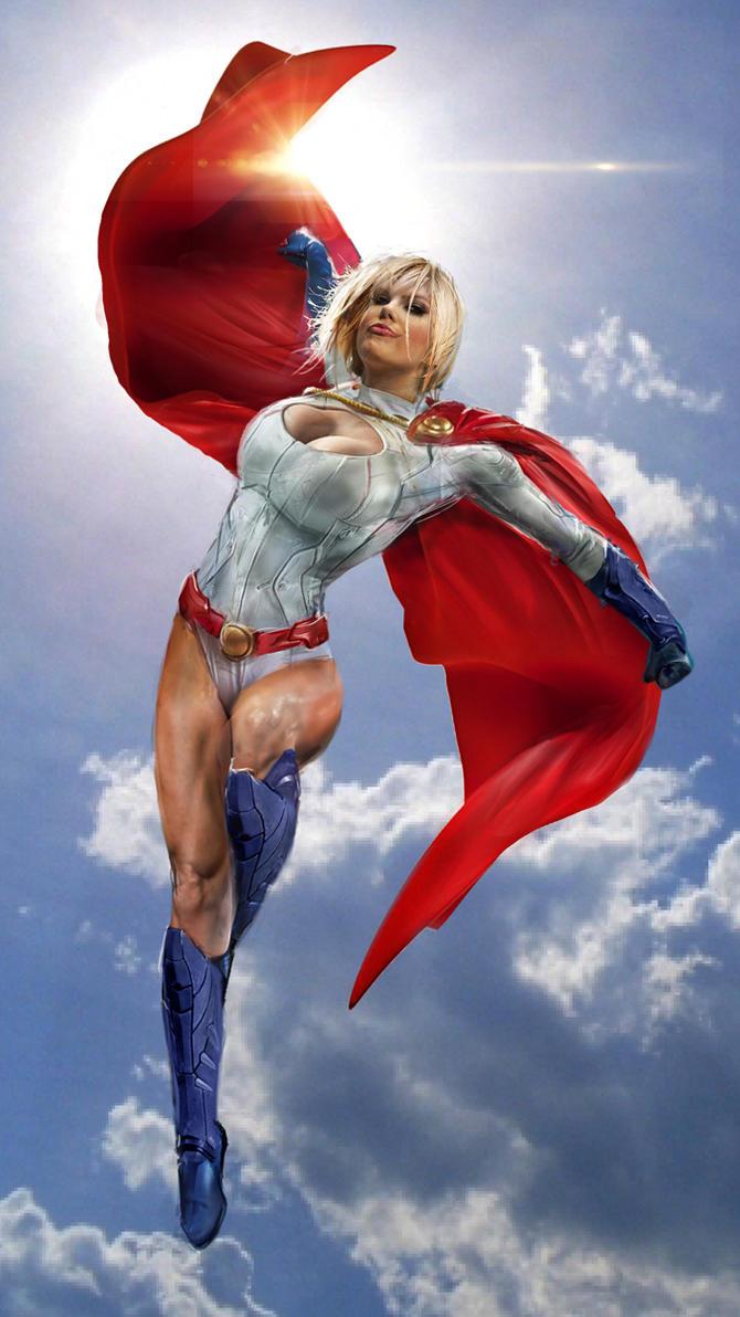 Power Girl WIP by uncannyknack