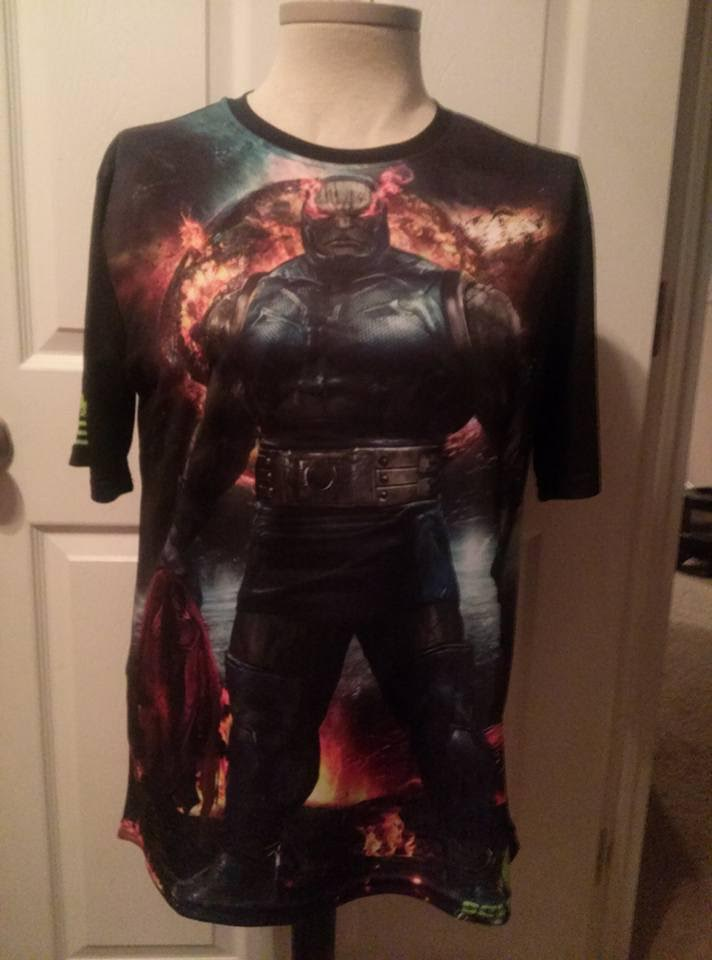 Darkseid workout shirt by uncannyknack