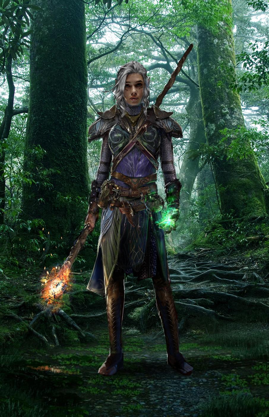 Dragon Age Elven Mage By Uncannyknack On Deviantart