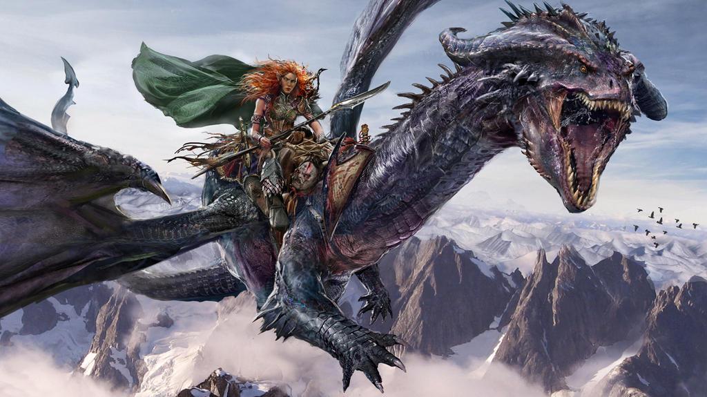 Elven Dragon Rider by uncannyknack on DeviantArt
