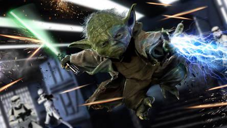 Yoda WIP by uncannyknack