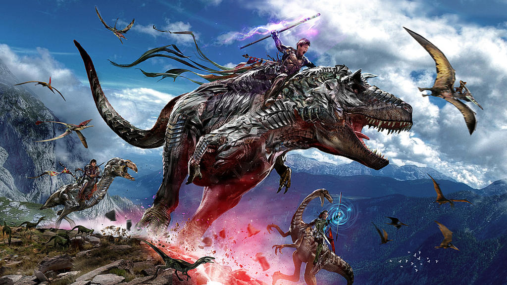 Dinosaur Riders WIP by uncannyknack