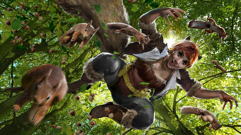 The Unbeatable Squirrel Girl WIP by uncannyknack