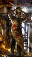 Leatherface WIP by uncannyknack