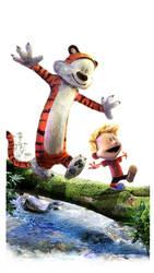 Calvin and Hobbes by uncannyknack