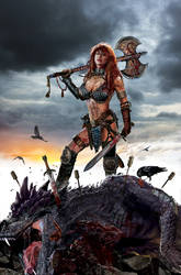 Dynamite Red Sonja by uncannyknack