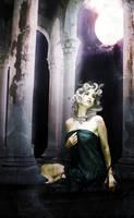 Under the moonlight by AlheliDelaGarza