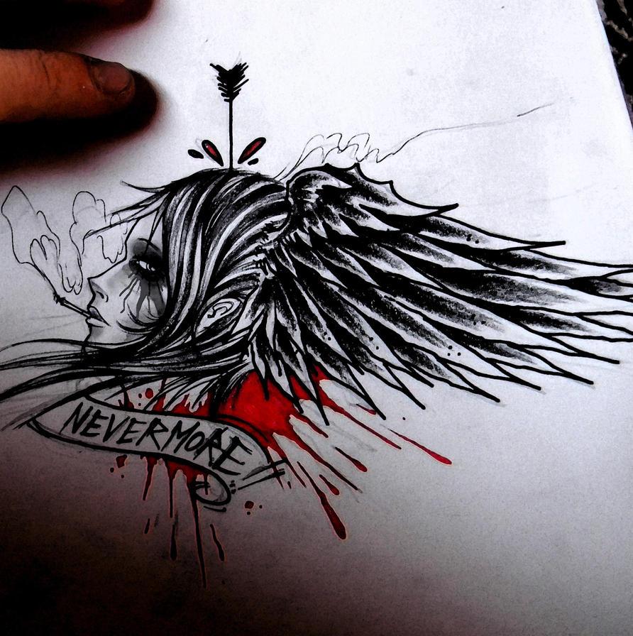 "20 Edgar Allan Poe Raven Tattoo Ideas With ""Nevermore"""